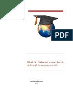 Ghid de Elaborare a Unei Lucrari de Licenta in Asistenta Sociala UB-FSAS