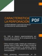 CARACTERISTICAS DE LA PERFORACIÓN