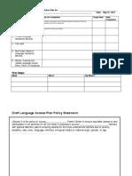 Language Access Plan Checklist
