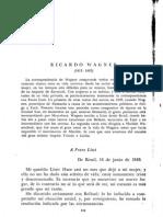 2 Cartas de Richard Wagner [Liszt / Wesendouck