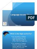 Language Access Plan PowerPoint Early Bird