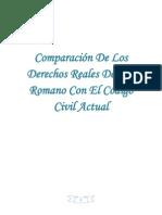 Comparación De Los Derechos Reales Del Ius Romano Con El Código Civil Actua1