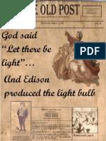 Edison Newspaper by Rodrigo