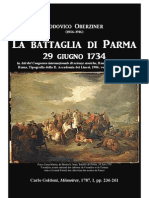 1903 OBERZINER Lodovico. La Battaglia di Parma 1734