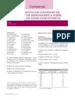 Consenso Anemia Ginecologia