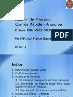 Análisis de Mercado de Comida Rapida Arequipa 05 02 2011