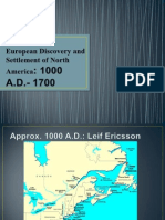 European Discovery and Settlement of North America