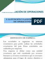 La Funcion y Estrategia de Operaciones