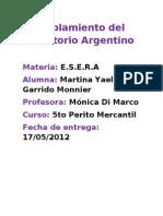 Tp de Esera Poblamiento de Territorio Argentino