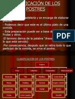 2 CLASIFICACIÓN DE LOS POSTRES
