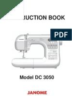 Janome DC 3050 Manualk