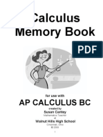 Cantey - Calculus Memory Book
