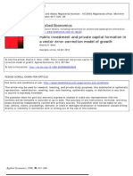 Public Investmenrt and Private Formation in a VEC Model of Growth -Ghali