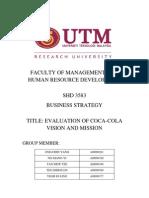 BS Assignment Coca Cola