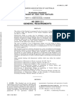 As 2001.5.1-1987 Methods of Test for Textiles Dimensional Change - General Requirements