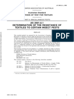 As 2001.6.1-1980 Methods of Test for Textiles Miscellaneous Tests - Determination of the Resistance of Textil