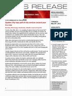 Municipal Services Poll _Forum Research_ _20120529