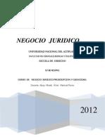 Negocio Juridico i - Libro de Mariscal
