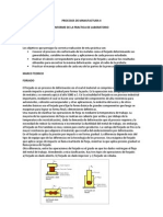 Informe de Procesos de Manufactura II