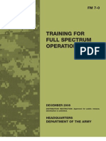FM7-0 Training for Full Spectrum Operations