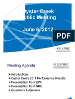 ML12159A352 - Oyster CreekPublic Meeting June 6 2012