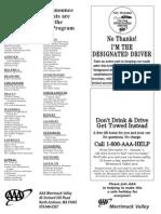Participating Designated Driver Establishments