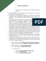 Declaración TRICEL 2012