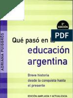 ¿Que paso en la Educ Argentina¿