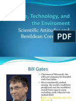 Science Technology and the Enviroment Scientific Attitudes 1
