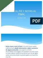Notas Al Pie y Notas Al Final
