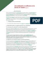La contaminación ambiental y su influencia en la salud de la población de Tumbes