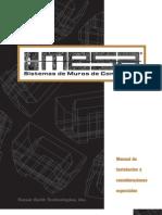 Manual de Intalación MURO MESA-  Español