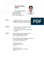 Resume of Shamal Chandra Debnath