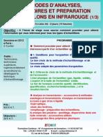 Formation Continue Accessoires & Preparation Echantillons Spectroscopie Infrarouge Pratique 2012