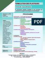 Formation Continue Additifs & Formulation Des Plastiques 2012