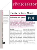 World Bank on Single Buyer Model