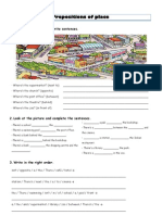 Prepositions of place set of activities
