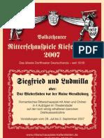 Ritterschauspiele Kiefersfelden 2007 SIEGFRIED UND LUDMILLA Programm mit Fotos