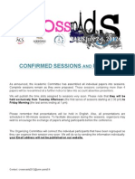 Crossroads 2012 - Confirmed Sessions and Papers