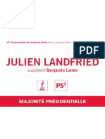 Bulletin de vote de Julien Landfried (premier tour)