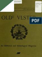 Olde Ulster History May 1910