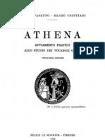Pasetto & Cristiani - Athena, Avviamento Pratico Allo Studio Dei Vocaboli Greci