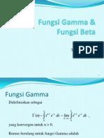 Pertemuan 7 Fungsi Gamma Beta