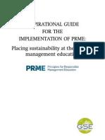 Principios para una Educación Responsable en Management