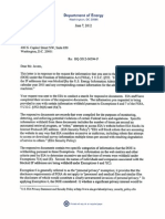 DOE Letter and FOIA Release to CNBC