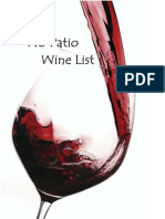 No Patio Wine List
