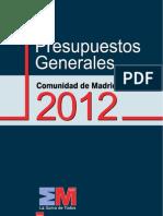 Presupuestos CM 2012