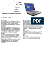 HP Elitebook 2760p Datasheet