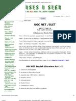 UGC NET English Literature - Study Materials for English Literature Part 1
