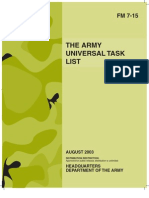 FM 7-15 the Army Universal Task List